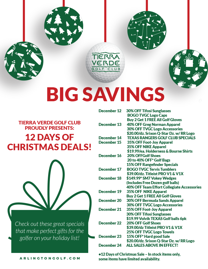 Golf 12 Days of Deals